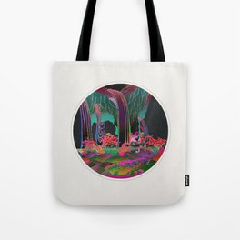 Reincarnation - Neon Waterfalls Tote Bag