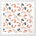 Sushi Scrimps Pattern by goldenredeagle