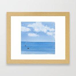 Two Seals Pop Up Framed Art Print