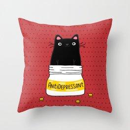 FUR ANTIDEPRESSANT Throw Pillow