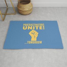 Procrastinators Unite Tomorrow (Blue) Rug