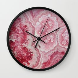 Red Geode Wall Clock