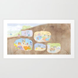 Bunny Burrow Art Print