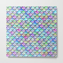 Rainbow Bubble Scales Metal Print
