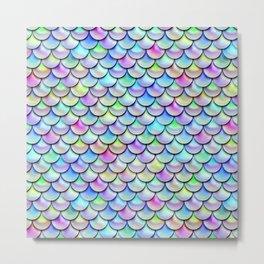 Rainbow Bubble Scales Metal Print