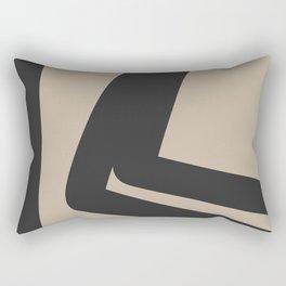 Neutral Abstract 4B Rectangular Pillow