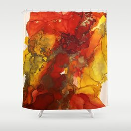 Fall explosion Shower Curtain