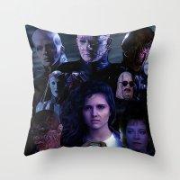 saga Throw Pillows featuring Hellraiser Saga by Saint Genesis