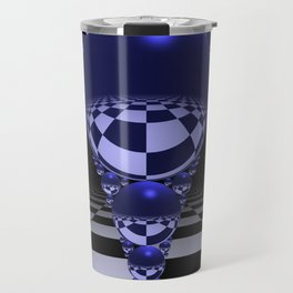 Apollonian gasket - blue Travel Mug