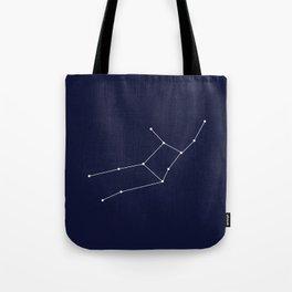 Virgo Astrology Star Sign Blue Minimal Tote Bag