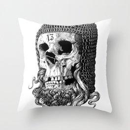 Templar Skull Throw Pillow
