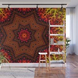 Fiery Fractal Mandala 2 Wall Mural