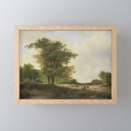 Landscape with Farmstead, Johannes Warnardus Bilders, c. 1840 - c. 1890 Framed Mini Art Print