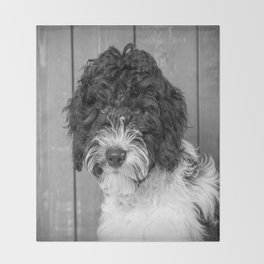 Thoughtful Labradoodle Throw Blanket