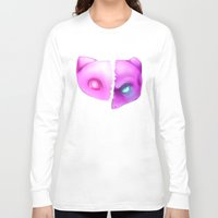mew Long Sleeve T-shirts featuring Mew Or Mewtwo? by Kapika Arts