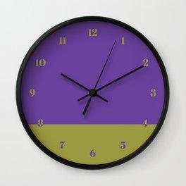 Purple & Lime Color Block Wall Clock