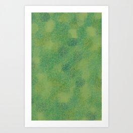 Cracked Greens Art Print