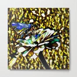 The Skipper Butterfly As A Jewel Metal Print