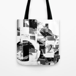 Circle Glitch Tote Bag