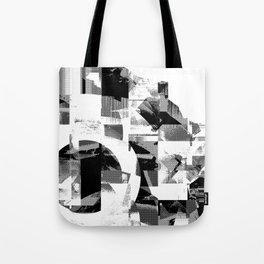 Circle Glitch Tote Bag