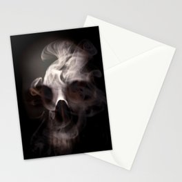 Skull and Smoke Stationery Cards
