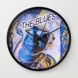 The Blues Face Wall Clock