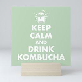 Keep Calm and Drink Kombucha Mini Art Print