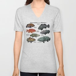 Groupers of the World Unisex V-Neck