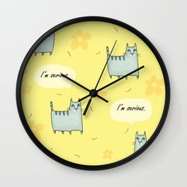 Why So Serious....Cat Wall Clock