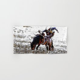 The Dismount   -   Rodeo Cowboy Hand & Bath Towel