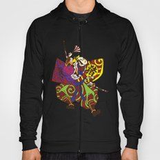 Samurai with vintage japan painting style Hoody