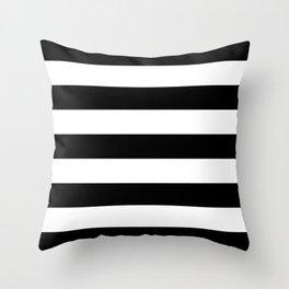 BLACK & WHITE STRIPES XL Throw Pillow
