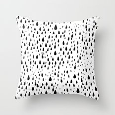 Polka rain drops Throw Pillow