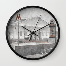Lenin's Library. Moscow Wall Clock