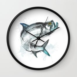 Tarpon Fish Wall Clock