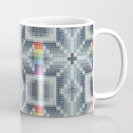 Flower Rainbow stich cross pattern Coffee Mug