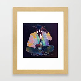 Down the hatch Framed Art Print