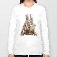 architecture Long Sleeve T-shirts featuring Slow Architecture by Enkel Dika
