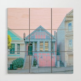 San Francisco Painted Lady Victorian House Wood Wall Art