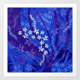 Hawaiian Swirl Art Print