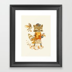 Rebecca the Radish Raccoon Framed Art Print