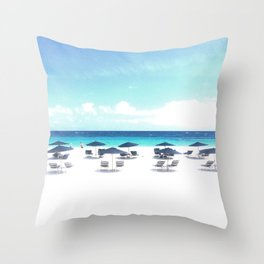 elbow beach bermuda Throw Pillow