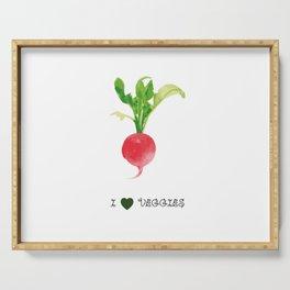 Radish - I love veggies Serving Tray