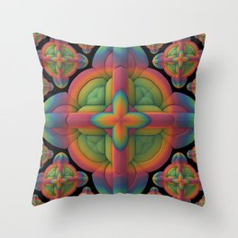 Obsessive Repetition Throw Pillow
