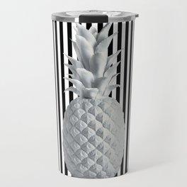 Black and White Anana | #society6 | Pineapple Travel Mug