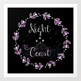 Starry Night Court Art Print