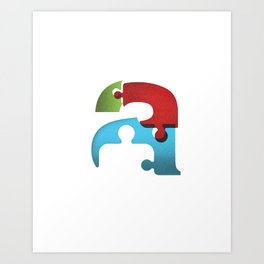 Autism Awareness Art Print