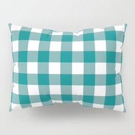 Gingham (Teal/White) Pillow Sham
