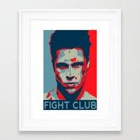 tyler durden Framed Art Prints featuring Tyler Durden by Jason Vaughan