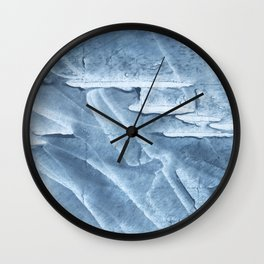 Light steel blue colored wash drawing texture Wall Clock